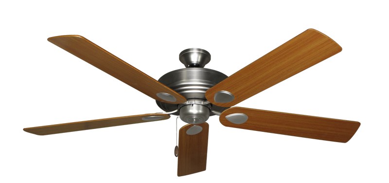 "Picture of Futura Satin Steel with 60"" Teak Blades"