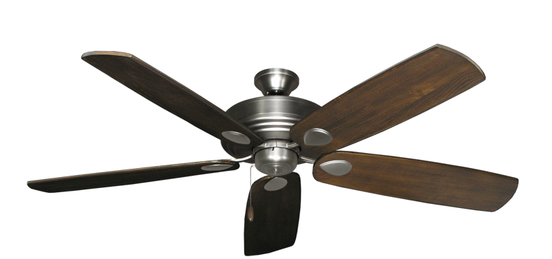 "Picture of Futura Satin Steel with 60"" Series 725 Arbor Dark Walnut Blades"