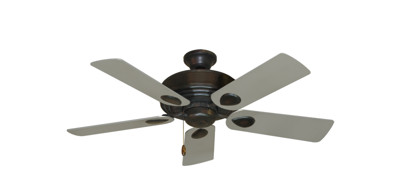 "Picture of Futura Oil Rubbed Bronze with 44"" Satin Steel (painted) Blades"