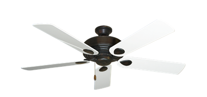 "Picture of Futura Oil Rubbed Bronze with 52"" Pure White Gloss Blades"