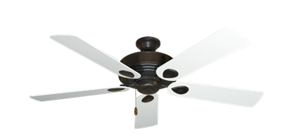 "Picture of Futura Oil Rubbed Bronze with 52"" Textured White Blades"