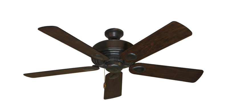 "Picture of Futura Oil Rubbed Bronze with 52"" Distressed Hickory Blades"