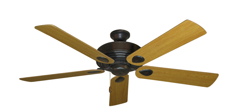 "Picture of Futura Oil Rubbed Bronze with 56"" Honey Oak Blades"