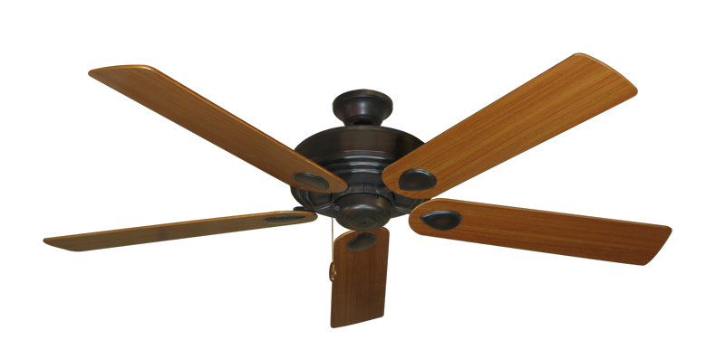 """Picture of Futura Oil Rubbed Bronze with 60"""" Teak Blades"""