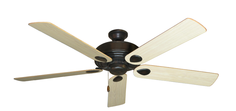 """Futura Oil Rubbed Bronze with 60"""" Bleached Oak Gloss Blades"""