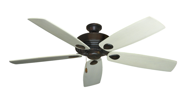 """Picture of Futura Oil Rubbed Bronze with 60"""" Series 725 Arbor Whitewash Blades"""