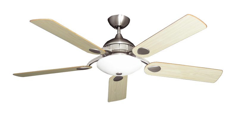 "Picture of Majestic Satin Steel with 52"" Unfinished Oak Blades"