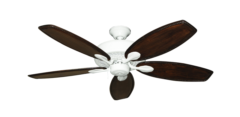 "Picture of Meridian Pure White with 52"" Series 550 Arbor Dark Walnut Blades"
