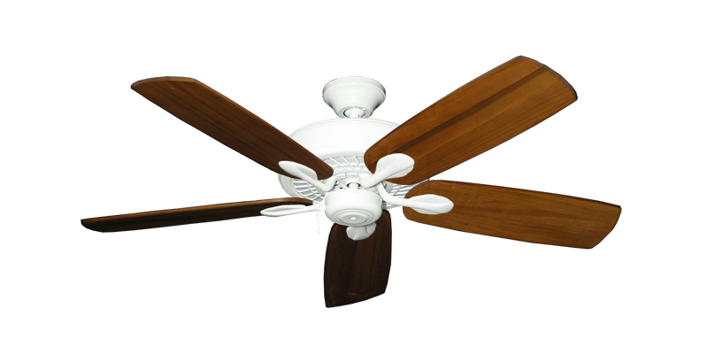 "Picture of Meridian Pure White with 52"" Series 710 Arbor Oak Blades"
