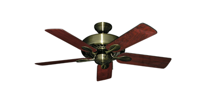 """Picture of Meridian Antique Brass with 44"""" Cherrywood Gloss Blades"""
