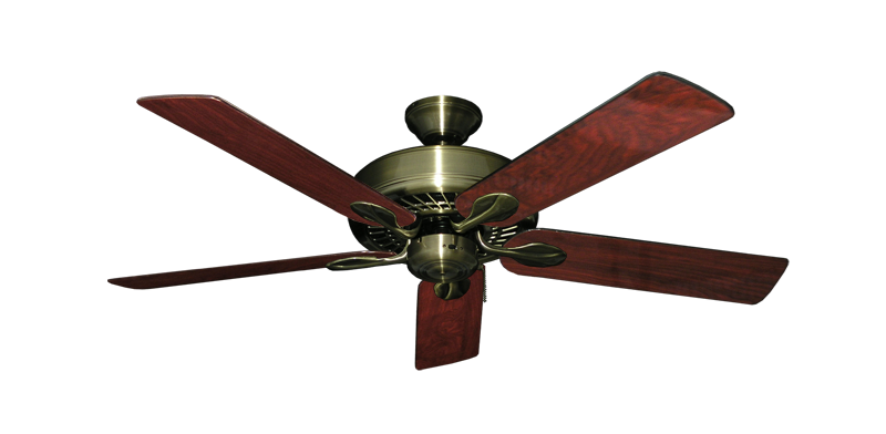 "Picture of Meridian Antique Brass with 52"" Cherrywood Gloss Blades"