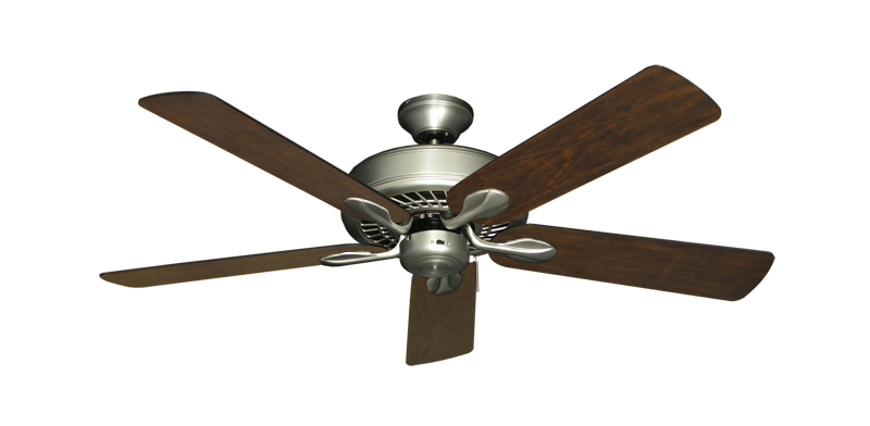 "Picture of Meridian Satin Steel with 52"" Distressed Walnut Blades"