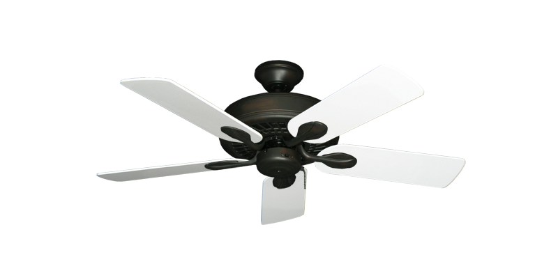 """Picture of Meridian Oil Rubbed Bronze with 44"""" Pure White Blades"""