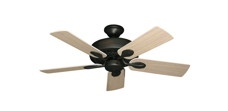"Picture of Meridian Oil Rubbed Bronze with 44"" Bleached Oak Blades"