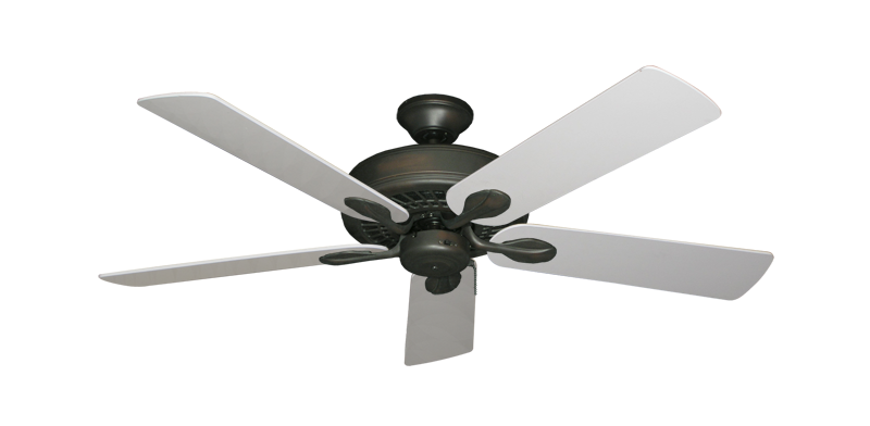 """Picture of Meridian Oil Rubbed Bronze with 52"""" Pure White Blades"""