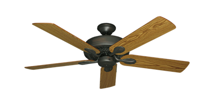 "Picture of Meridian Oil Rubbed Bronze with 52"" Oak Blades"