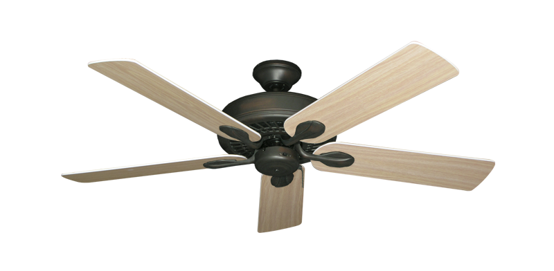"""Picture of Meridian Oil Rubbed Bronze with 52"""" Bleached Oak Gloss Blades"""