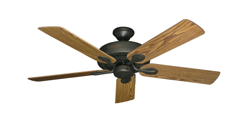 "Picture of Meridian Oil Rubbed Bronze with 52"" Oak Gloss Blades"