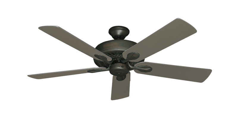 "Picture of Meridian Oil Rubbed Bronze with 52"" Satin Steel (painted) Blades"