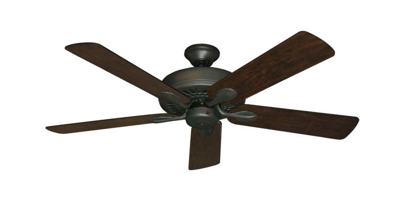 "Picture of Meridian Oil Rubbed Bronze with 52"" Distressed Hickory Blades"