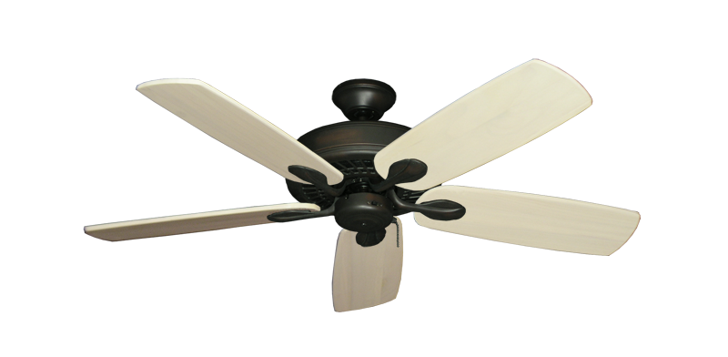 """Picture of Meridian Oil Rubbed Bronze with 52"""" Series 710 Arbor Whitewash Blades"""