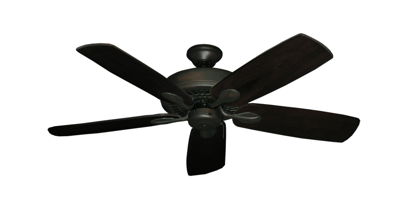 "Picture of Meridian Oil Rubbed Bronze with 52"" Series 710 Arbor Dark Walnut Blades"