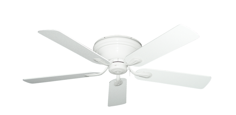 """Picture of Stratus Pure White with 52"""" Textured White Blades"""