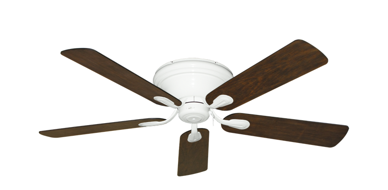 "Picture of Stratus Pure White with 52"" Distressed Walnut Blades"