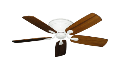 """Picture of Stratus Pure White with 52"""" Series 710 Arbor Oak Blades"""