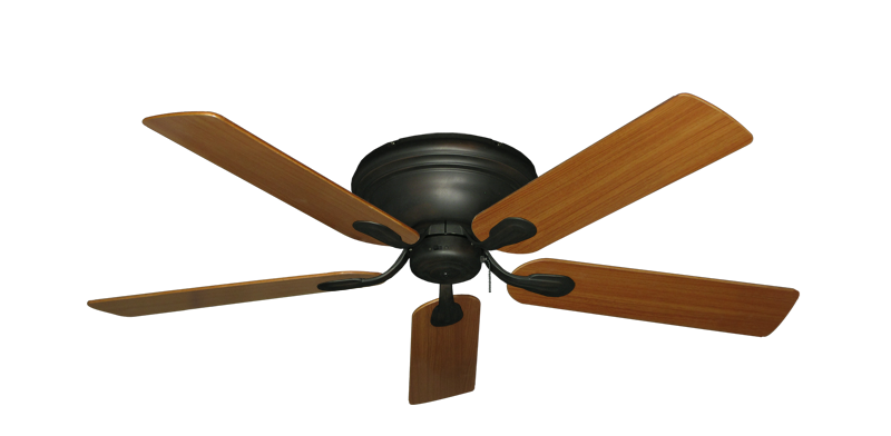 "Picture of Stratus Oil Rubbed Bronze with 52"" Teak Blades"