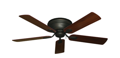 """Picture of Stratus Oil Rubbed Bronze with 52"""" Walnut Blades"""