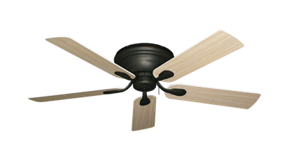 """Picture of Stratus Oil Rubbed Bronze with 52"""" Bleached Oak Gloss Blades"""