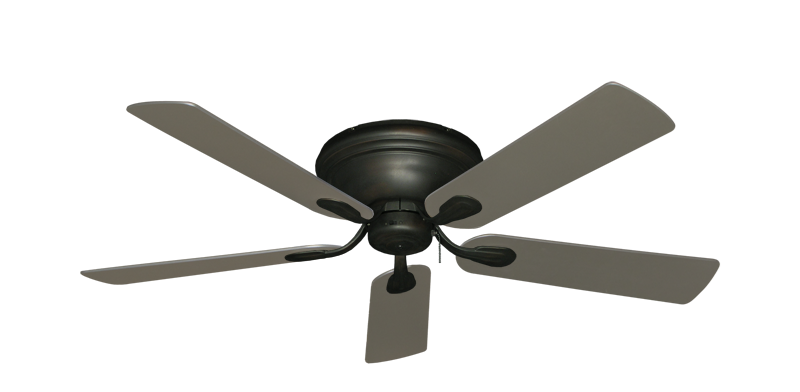 """Picture of Stratus Oil Rubbed Bronze with 52"""" Satin Steel (painted) Blades"""