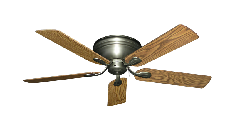 "Picture of Stratus Satin Steel with 52"" Oak Gloss Blades"