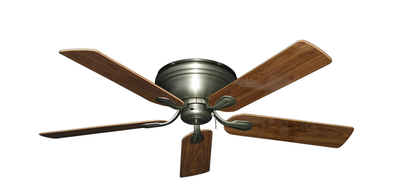 "Picture of Stratus Satin Steel with 52"" Walnut Gloss Blades"