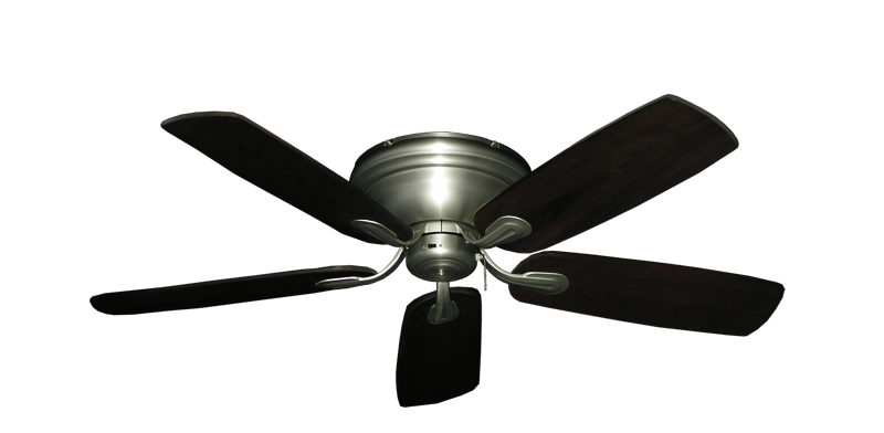 "Picture of Stratus Satin Steel with 52"" Series 710 Arbor Dark Walnut Blades"