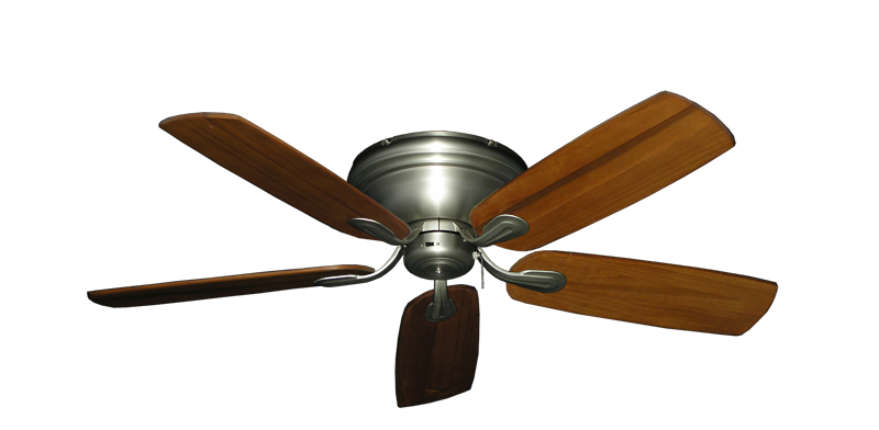 """Picture of Stratus Satin Steel with 52"""" Series 710 Arbor Oak Blades"""