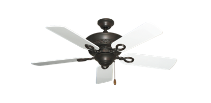 "Picture of Infinity Oil Rubbed Bronze with 44"" Pure White Blades"