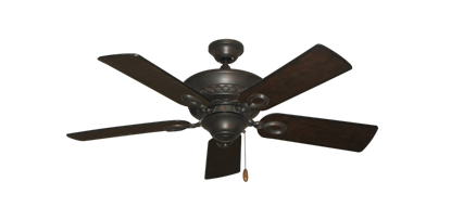 """Picture of Infinity Oil Rubbed Bronze with 44"""" Distressed Walnut Blades"""