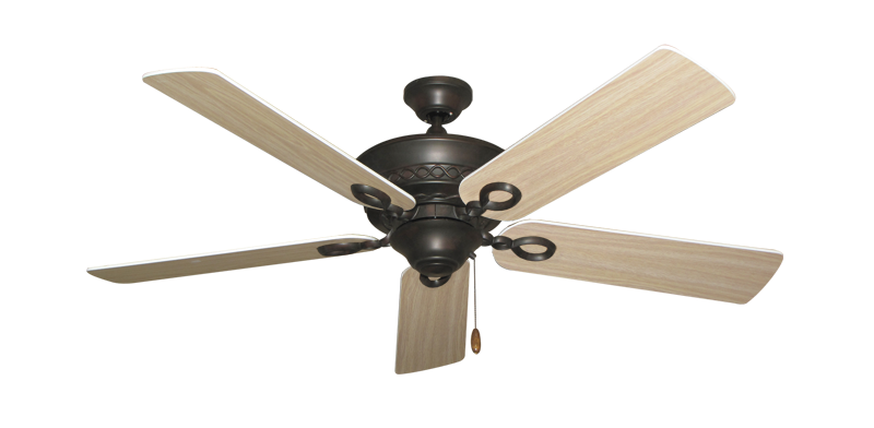 """Picture of Infinity Oil Rubbed Bronze with 52"""" Bleached Oak Blades"""