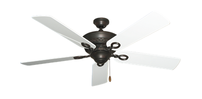 "Picture of Infinity Oil Rubbed Bronze with 52"" Pure White Gloss Blades"
