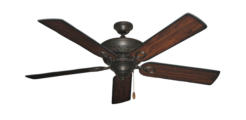 """Picture of Infinity Oil Rubbed Bronze with 52"""" Burnt Cherry Blades"""