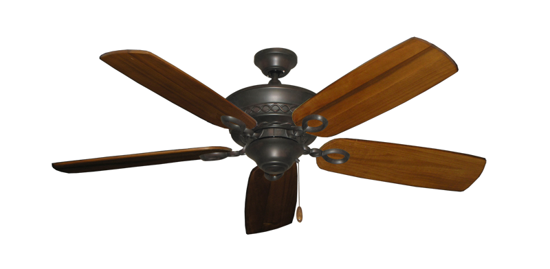 "Picture of Infinity Oil Rubbed Bronze with 52"" Series 710 Arbor Oak Blades"