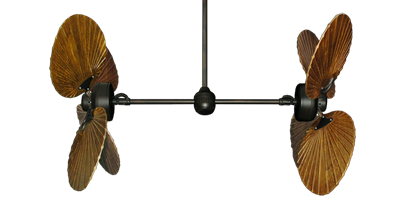 """Picture of Twin Star III Oil Rubbed Bronze with 50"""" Series 900 Arbor Walnut Blades"""