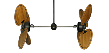 """Picture of Twin Star III Oil Rubbed Bronze with 50"""" Series 950 Arbor Oak Blades"""