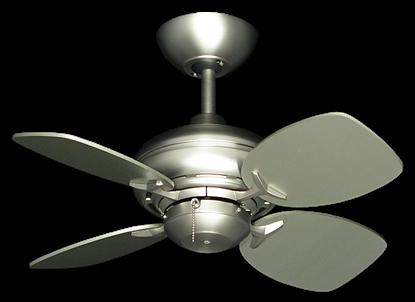 """26"""" Mini Breeze Ceiling Fan in Satin Steel"""