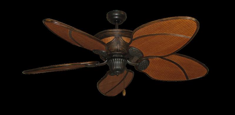 """52"""" Moroccan Ceiling Fan in Oil Rubbed Bronze"""