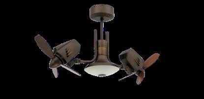 Picture of Mustang II 18 in. Dual Motor Oscillating Indoor/Outdoor Rubbed Bronze Ceiling Fan
