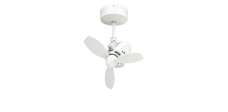 Picture of Mustang 18 in. Oscillating Indoor/Outdoor Pure White Ceiling Fan