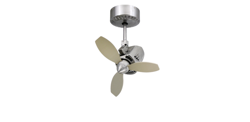 Picture of Mustang 18 in. Oscillating Indoor/Outdoor Brushed Aluminum Ceiling Fan